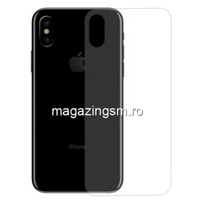 Geam Protectie Capac Baterie Spate iPhone X