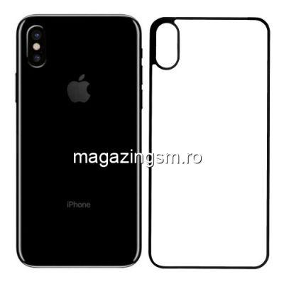 Geam Protectie Capac Baterie Spate iPhone X 4D Transparent