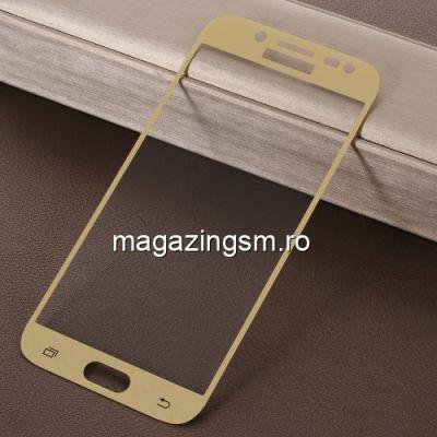 Geam Protectie Display Samsung Galaxy J5 J530 2017 Acoperire Completa 2,5D Auriu