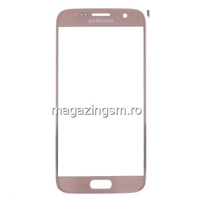 Geam Sticla Samsung Galaxy S7 G930 Roz Auriu