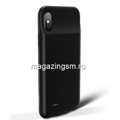 Husa Acumulator Extern Power Bank iPhone X / 10 Neagra