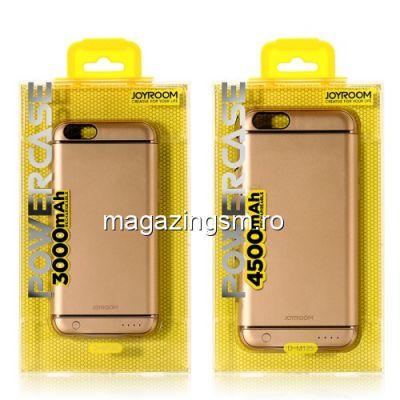 Husa Acumulator Extern Power Bank iPhone 6 6S 3000mAh Aurie