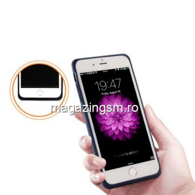 Husa Acumulator Extern Power Bank iPhone 8 7 6s 6 2500mAh Albastra