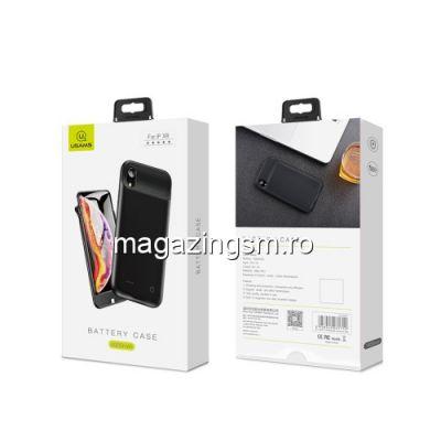 Husa Acumulator Extern Power Bank iPhone XR 4000mAh Neagra