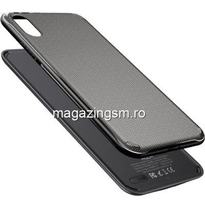 Husa Acumulator Extern Power Bank iPhone XS 5000mAh Wireless Magnetica Neagra