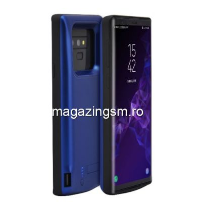 Husa Acumulator Extern Power Bank Samsung Galaxy Note 9 N960 6000mAh Albastra