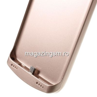 Husa Acumulator Extern Power Bank Samsung Galaxy S7 Edge G935 5200mAh Roz Aurie