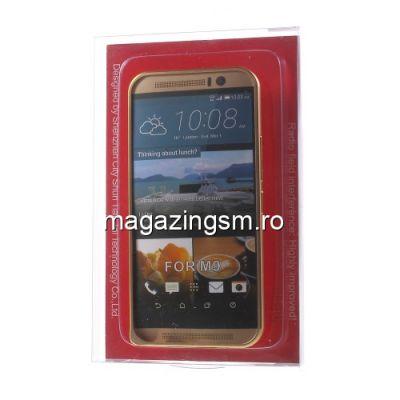 Husa Bumper HTC One M9 Aluminiu Auriu