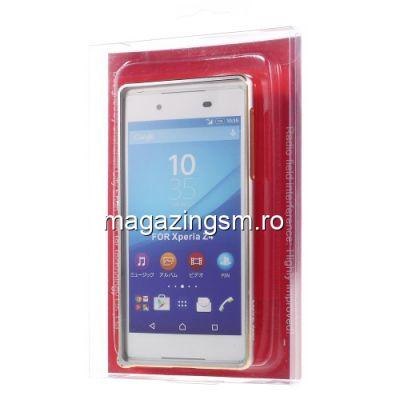 Husa Bumper Sony Xperia Z3 Plus Aluminiu Argintiu