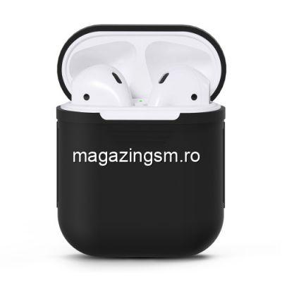Husa Casti Handsfree Apple AirPods iPhone 7 Neagra