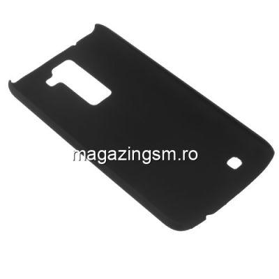 Husa Dura LG K8 Cauciucata Neagra