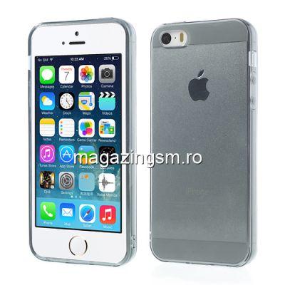 Husa Flexibila Gel TPU iPhone 5 5s Transparent Gri