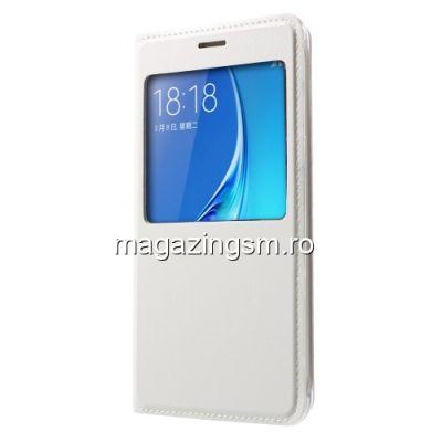 Husa Flip Cu Fereastra Samsung Galaxy J5 J510F Alba