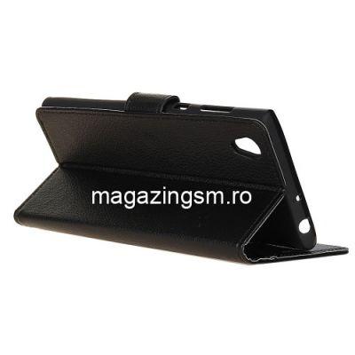 Husa Flip Cu Stand Asus ZenFone Lite (L1) ZA551KL / Live (L1) ZA550KL Neagra