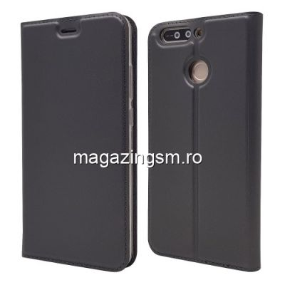 Husa Flip Cu Stand Huawei Honor 8 Pro / Honor V9 Neagra