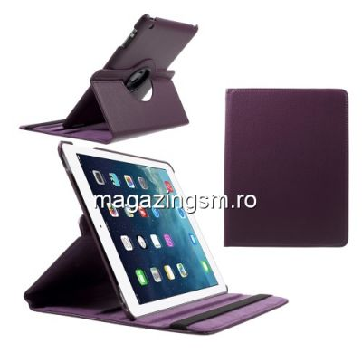 Husa Flip Cu Stand iPad 2 3 4 Rotire 360 De Grade Mov