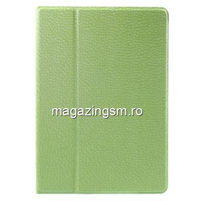 Husa Flip Cu Stand iPad 9,7 inch Si Rotatie 360 Grade Verde
