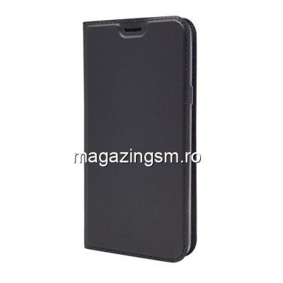 Husa Flip Cu Stand LG Q6 Plus / LG Q6 Neagra