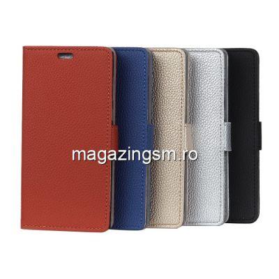 Husa Flip Cu Stand Motorola Moto E5 Plus Neagra