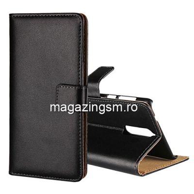Husa Flip Cu Stand Nokia 8 Neagra