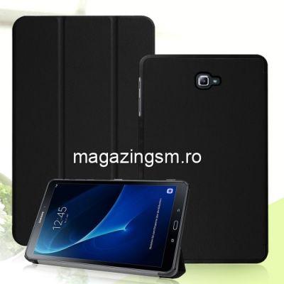 Husa Flip Cu Stand Samsung Galaxy Tab A 10,1 T580/T585 (2016) TriFold Neagra