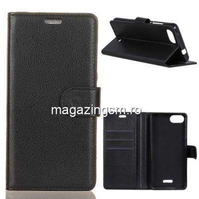 Husa Flip Cu Stand Xiaomi Redmi 6 Neagra