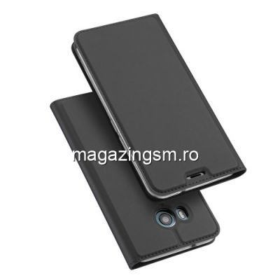 Husa HTC U11 Flip cu Stand Gri