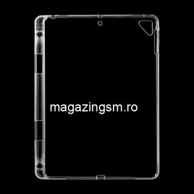 Husa iPad Air 2 Cu Suport Stilou Tactil TPU Transparenta