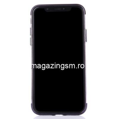 Husa iPhone XS Max Cu Margine Metalica Neagra