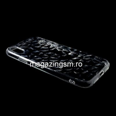 Husa iPhone XS Max TPU Textura Diamant Transparenta