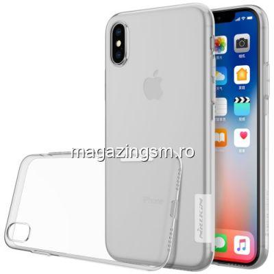 Husa iPhone XS Transparenta Alba