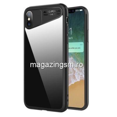 Husa iPhone X / iPhone 10 Transparenta cu Rama Neagra
