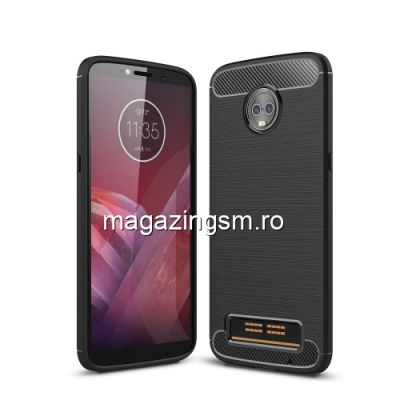 Husa Motorola Moto Z3 Play TPU Carbon Neagra