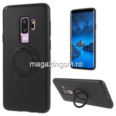 Husa Samsung Galaxy S9 Plus G965 TPU Matuita Cu Inel Deget Neagra