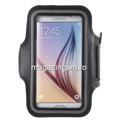 Husa Sport Samsung Galaxy S6 G920 / S6 Edge G925 Armband Gym Neagra