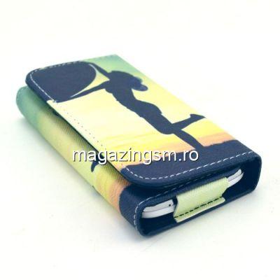 Husa Tip Portofel Universala iPhone Samsung LG Huawei HTC Apus de Soare