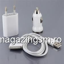 Incarcator Auto Si Retea iPhone 4 iPhone 4s
