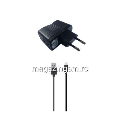 Incarcator Cu Cablu MicroUSB Universal Samsung Huawei Allview Xiaomi Asus Negru