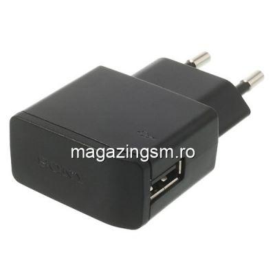 Incarcator Retea Sony Xperia Z1 Cu Port USB Negru