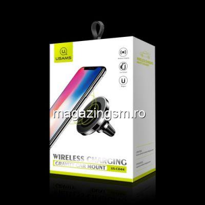 Incarcator Wireless iPhone Samsung Suport Pentru Ventilatie Magnetic