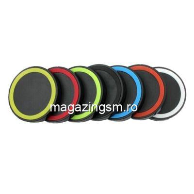 Incarcator Wireless Samsung Galaxy S7 Negru Simplu