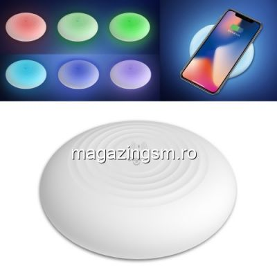 Incarcator Wireless iPhone X / 8 / 8 Plus Cu LED