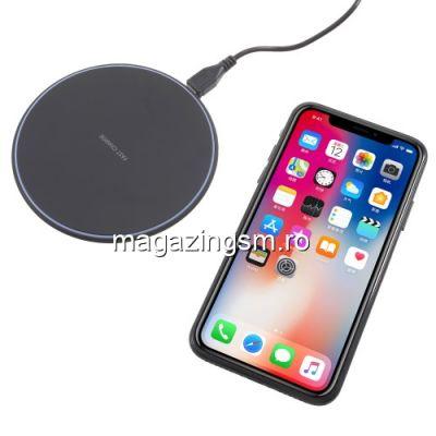 Incarcator Wireless Rapid iPhone X, Samsung Note 8 Negru