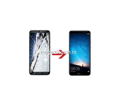 Inlocuire Geam Sticla Display Huawei Mate 10 Lite Negru