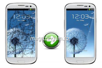 Inlocuire Geam Sticla Samsung I9300 Galaxy S3 Alb