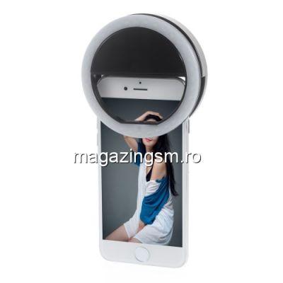 Adaptor Camera tip Lampa LED Selfie Ring iPhone Samsung Neagra