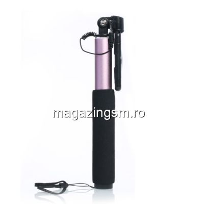 Monopod Extensibil Selfie Stick iPhone Samsung Huawei Nokia LG Asus Allview Cu Cablu Negru