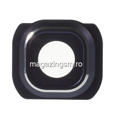 Ornament Camera Cu Geam Samsung Galaxy S6 G920 Original Albastru Inchis