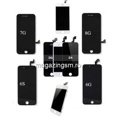 Pachet Display-uri iPhone 5 5s 6 6s 7 8 - 12buc (Albe+Negre)
