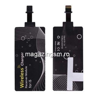 Incarcator Receptor Sticker Pentru Incarcare Qi Wireless iPhone 6s 6 5s 5 5c